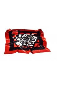 Rose pattern satin silk shawls