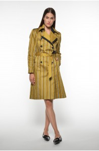 STRIPES TRENCHCOAT